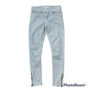 Levi's 711 Skinny Leg Stretch Cotton Blend Jeans Mid Rise Denim Women's Size 28